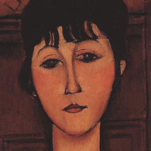 Head of a Young Girl (detail) by Amedeo Modigliani