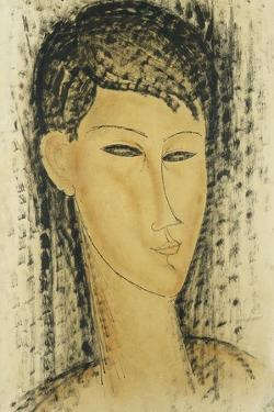 Head of a Young Women; Tete de Jeune Femme, 1914 by Amedeo Modigliani