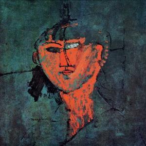Head portrait by Amedeo Modigliani