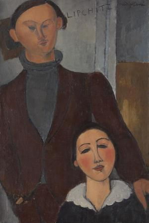 Jacques and Berthe Lipchitz, 1916 by Amedeo Modigliani