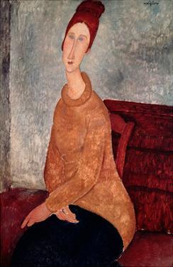 Jeanne Hebuterne in a Yellow Jumper, 1918-19 by Amedeo Modigliani