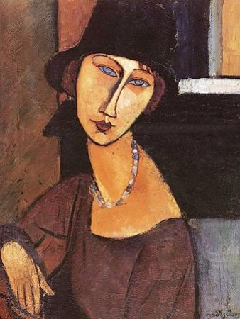 Jeanne Hebuterne Wearing a Hat, 1917 by Amedeo Modigliani