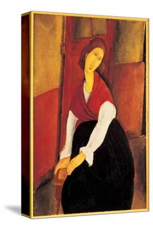 Jeanne Hebuterne with Red Shawl by Amedeo Modigliani