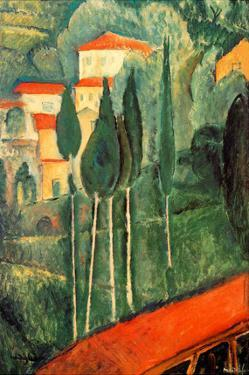 Landscape Southern France by Amedeo Modigliani