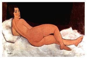Lying nude by Amedeo Modigliani