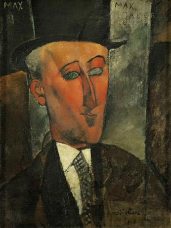 Max Jacob, writer and art critic (1916). by Amedeo Modigliani