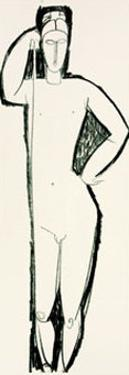Nu de Face by Amedeo Modigliani