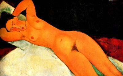 Nude with Necklace by Amedeo Modigliani