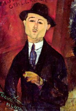 Paul Guillaume Novo Pilota, 1915 by Amedeo Modigliani