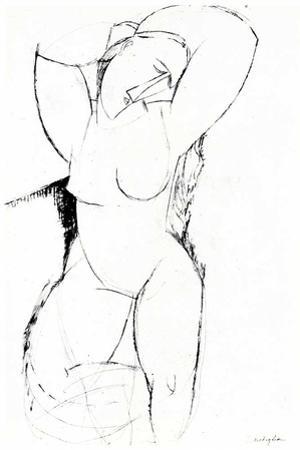 Portrait drawing by Amedeo Modigliani
