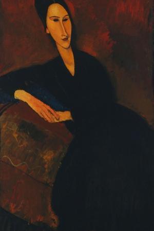 Portrait of Anna Zborowska, 1917 by Amedeo Modigliani