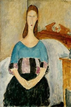 Portrait of Jeanne Hebuterne, Seated by Amedeo Modigliani