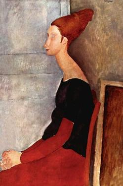 Portrait of Jeanne Hébuterne by Amedeo Modigliani