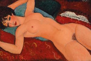 Reclining nude, 1917-18 by Amedeo Modigliani