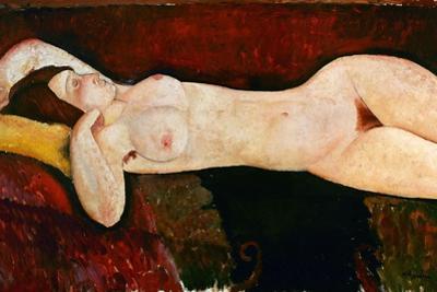 Reclining Nude, Ca. 1919 by Amedeo Modigliani