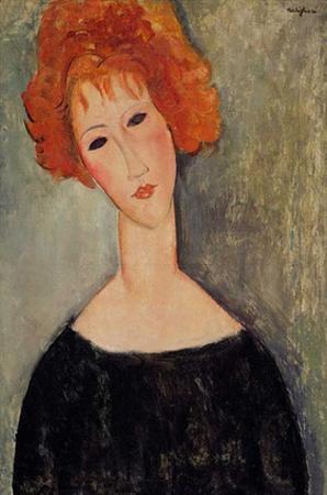 Redhead woman by Amedeo Modigliani