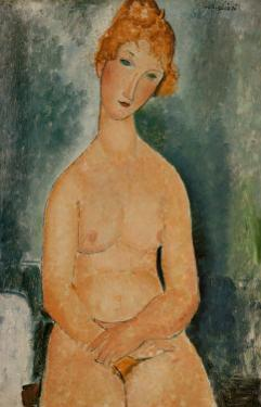 Seated Nude, c.1918 by Amedeo Modigliani