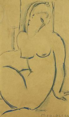 Seated Woman; Femme Assise by Amedeo Modigliani