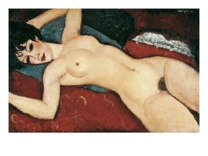 Sleeping Nude with Arms Open (Red Nude) by Amedeo Modigliani
