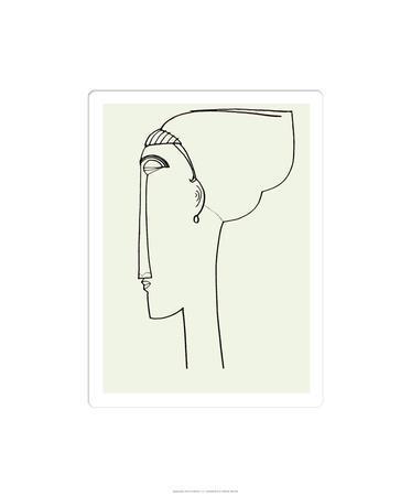 Amedeo Modigliani 1911 Poster Canvas Print Fine Art Poster 11 Anna Akhmatova