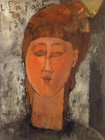 The fat child (L'enfant gras),1915 Canvas,46 x 38 cm. by Amedeo Modigliani