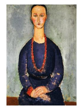 The Red Necklace, 1918 by Amedeo Modigliani