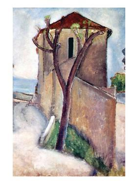 Tree and House by Amedeo Modigliani