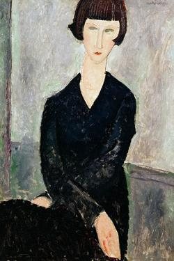 Woman in Black Dress by Amedeo Modigliani
