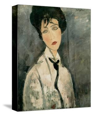 Woman in Black Tie, 1917 by Amedeo Modigliani