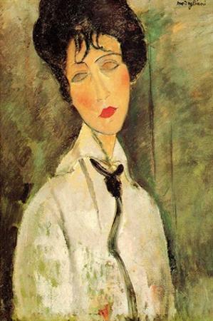 Woman in black tie by Amedeo Modigliani