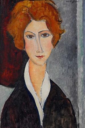 Woman portrait by Amedeo Modigliani