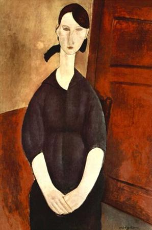 Woman with black dress