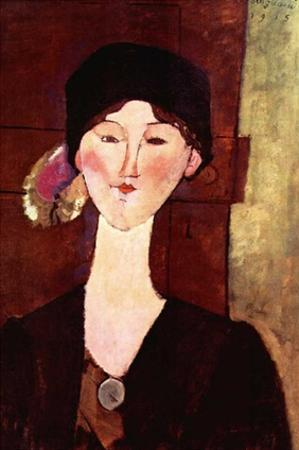 Woman with black hat by Amedeo Modigliani