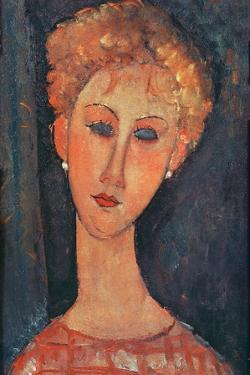 Young Girl with Earrings by Amedeo Modigliani