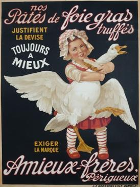 Ameiux Freres, Pates De Foie Gras, French Advertising Poster