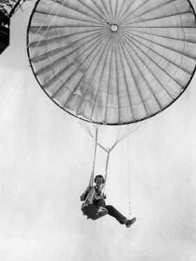 Amelia Earhart Helps Test a Commercial Parachute. June 2, 1935