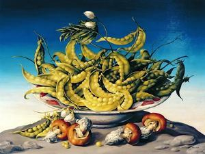 Peas in a Bowl by Amelia Kleiser