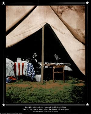 America (Lincoln & McClellens) Art Print Poster