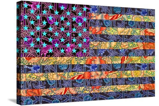 America Quilt--Stretched Canvas