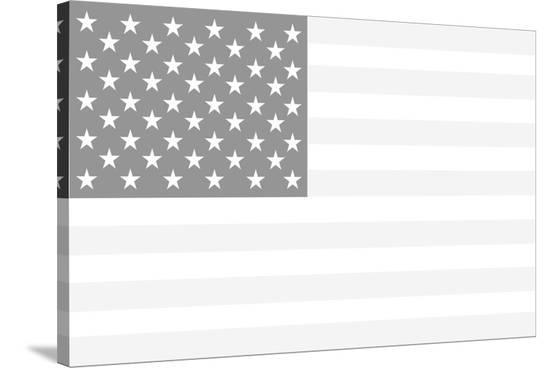 America, The White--Stretched Canvas Print