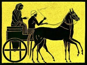 A Greek Chariot, Illustration from 'History of Greece' by Victor Duruy, Published 1890 by American