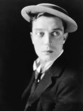 American actor Buster Keaton (1895 - 1966) (b/w photo)