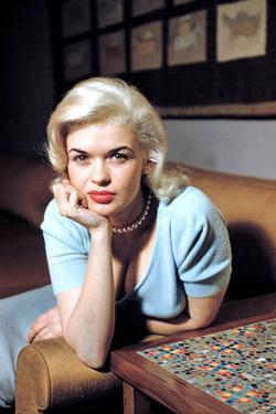 American Actress Jayne Mansfield (1933-1967) Born as Vera Jane Palmer, Here in, 1960
