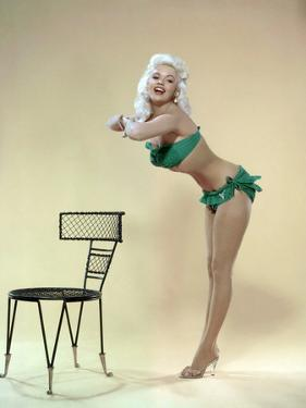 American Actress Jayne Mansfield (1933-1967) Born as Vera Jane Palmer, Here in, 1965