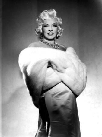American Actress Mae West (1892-1980) with Fur Stole C. 1940