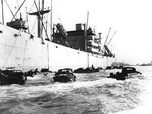 American Amphibious Vehicles, Le Havre, France, 1944