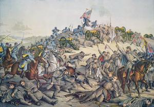 Battle of Nashville, December 15-16Th, 1864, Engraved by Kurz and Allison, 1891 (Colour Litho) by American