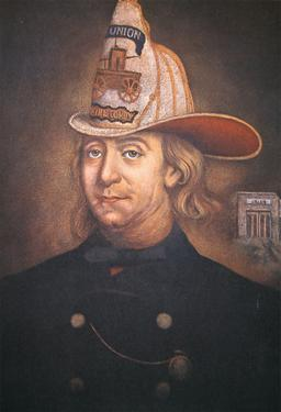 Benjamin Franklin Wearing the Uniform of the Union Fire Company Which He Founded in Philadelphia by American