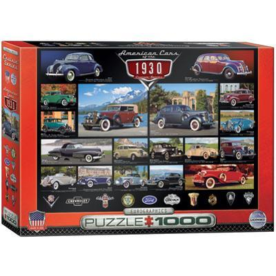 American Cars of the 1930s 1000 Piece Puzzle