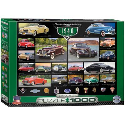 American Cars of the 1940s 1000 Piece Puzzle